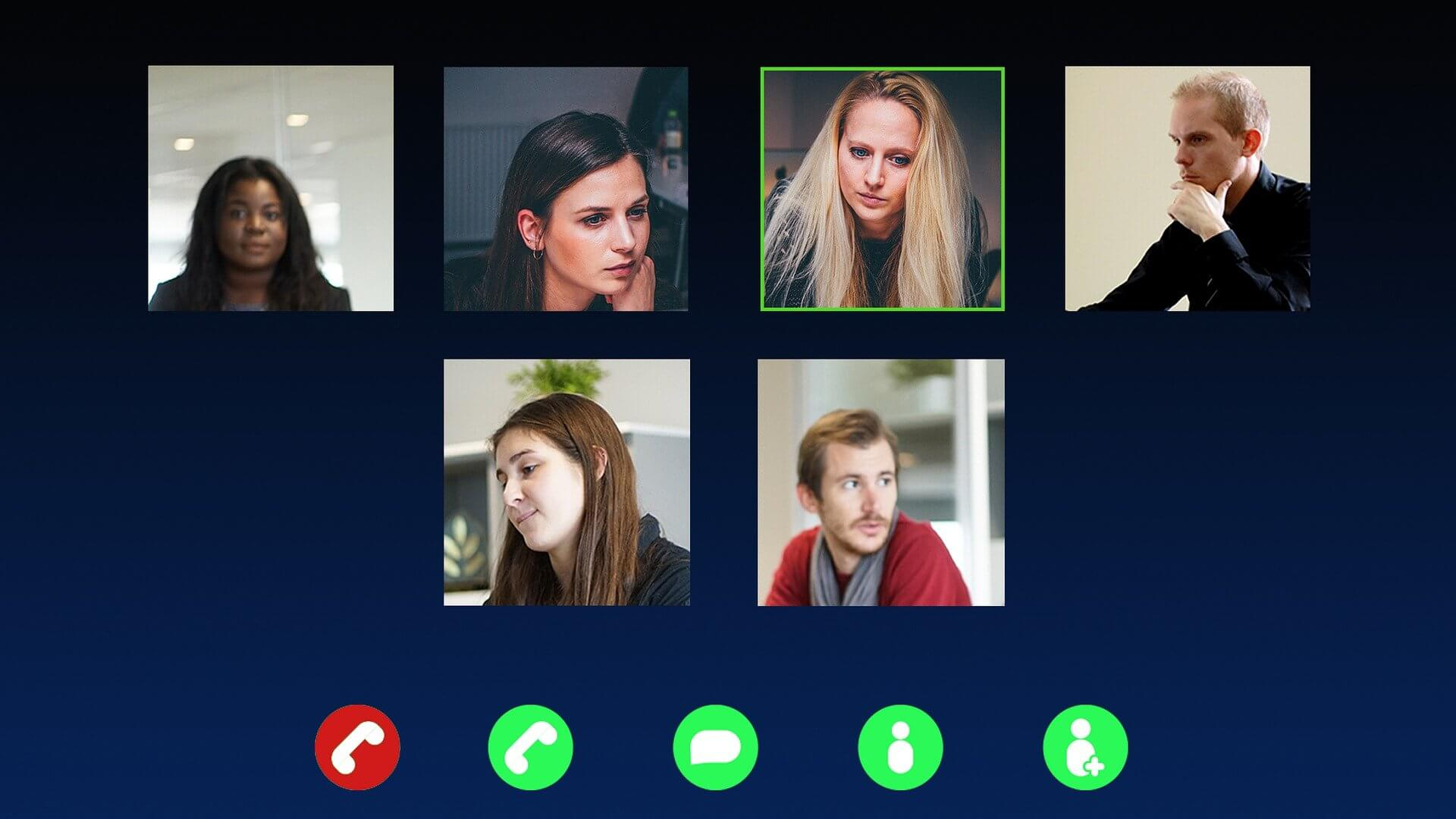 Problems with Online Learning. Picture of students on a Zoom meeting